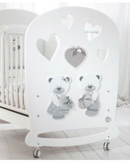 детская кроватка Baby Expert Bon Bon (белый)