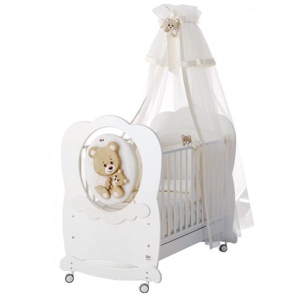 кроватка Baby Expert Abbracci by Trudi белый