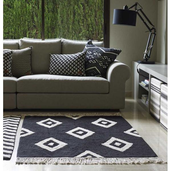 ковер Lorena Canals Черно-белый бриллиант 140x200 см