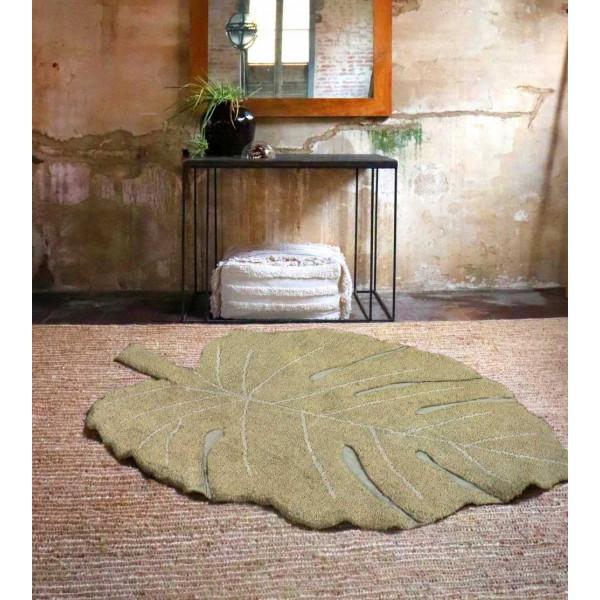 ковер Lorena Canals Лист монстеры оливковый 120x180 см