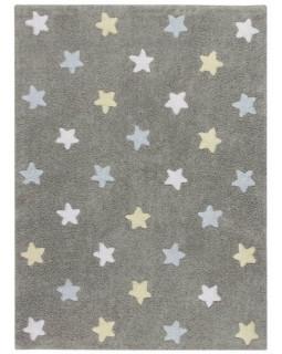 Детский ковер Lorena Canals Stars Tricolor (серо-голубой)