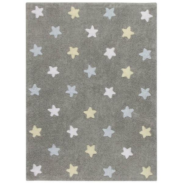 ковер Lorena Canals Stars Tricolor (серо-голубой)