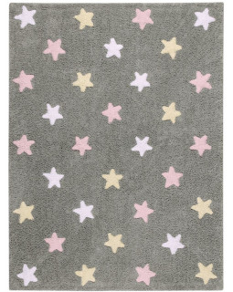 Детский ковер Lorena Canals Stars Tricolor (серо-розовый)
