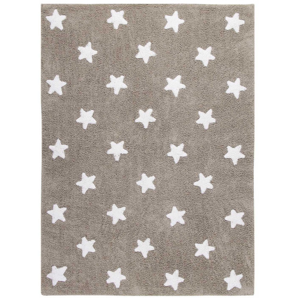 ковер Lorena Canals Stars бежевый с белым 120x160 см