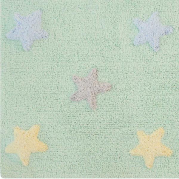ковер Lorena Canals Триколор Звезды Stars Tricolor мятный 120х160 см