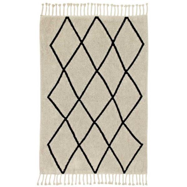 ковер Lorena Canals Bereber Берберский черно-белый бежевый 140x200 см
