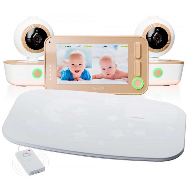 Видеоняня Ramili Baby RV1300X2SP с двумя камерами и монитором дыхания