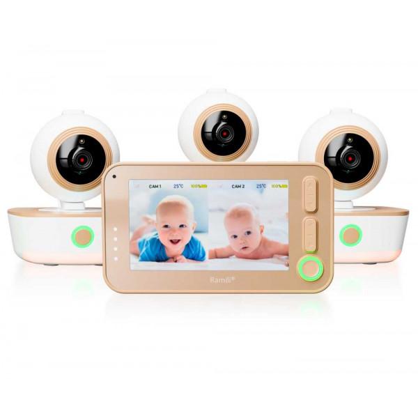 Видеоняня Ramili Baby RV1300X3 с тремя камерами