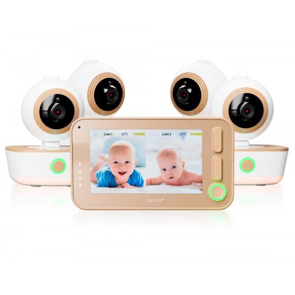 Видеоняня Ramili Baby RV1300X4 с 4 камерами