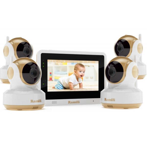 Видеоняня Ramili Baby RV1500X4 с 4 камерами