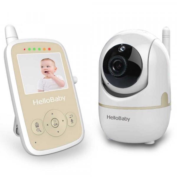 Видеоняня HelloBaby HB248 с экраном 2,4 дюйма и поворотной камерой