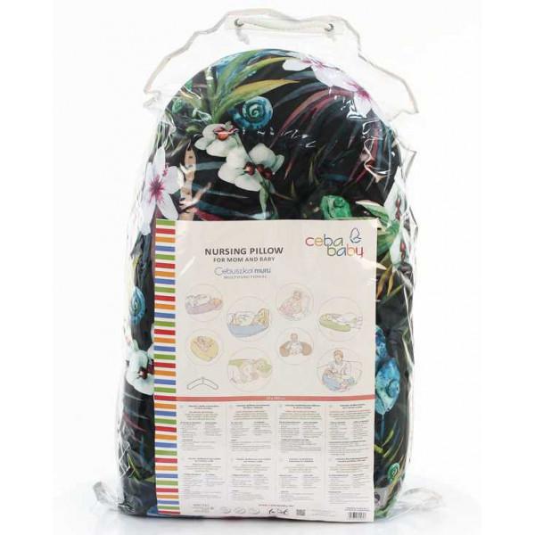 Ceba Baby Physio Multi Flora & Fauna подушка для беременных и кормления ребенка