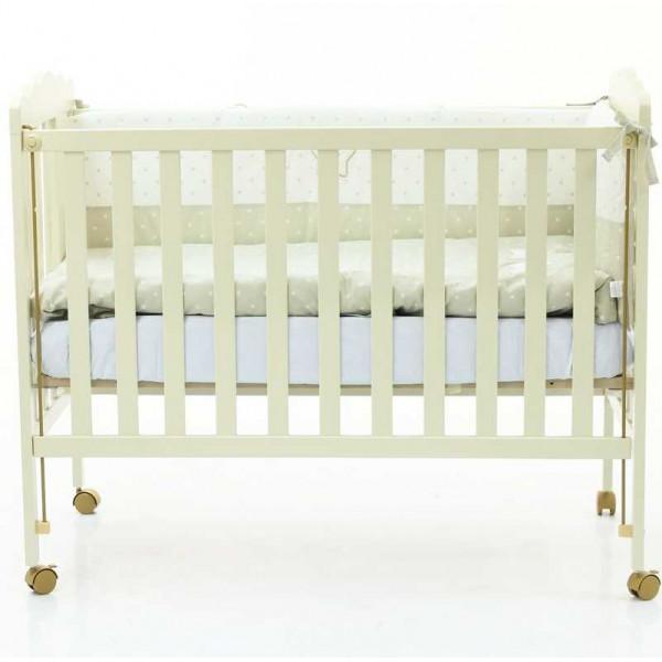 детская кроватка Micuna Bear Moon Ivory + Матрас