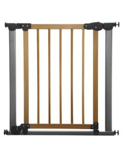 Safe&Care барьер-калитка безопасности Auto (цвет: хром+сосна)