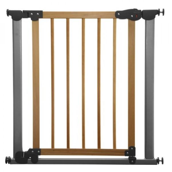 Ворота безопасности для детей Safe and Care Auto (цвет: хром+сосна)