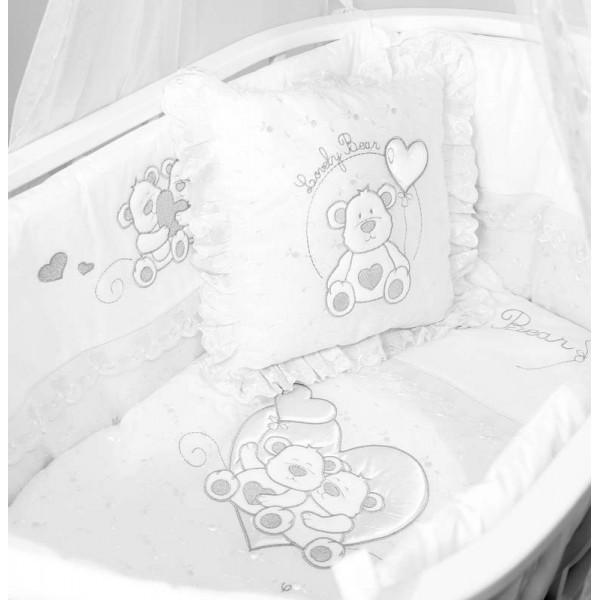 Fiorellino Berlin колыбель белая с комплектом белья Lovely Bear