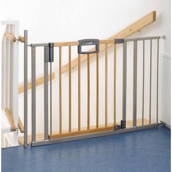 Ворота безопасности Geuther Easylock Wood 2793 Plus для лестницы