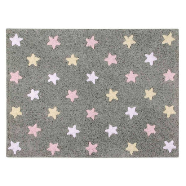 ковер Lorena Canals Stars Tricolor (серо-розовый)
