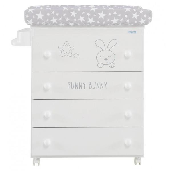 Комод пеленальный с декором Micuna Funny Bunny