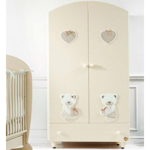 шкаф двустворчатый Baby Expert Sogno (крем)