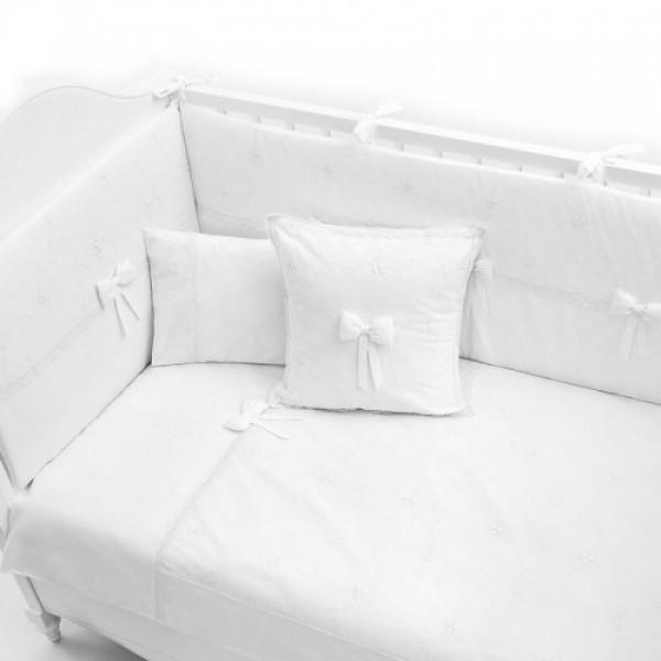 Постельное бельё Fiorellino Premium Baby White 125x65 см