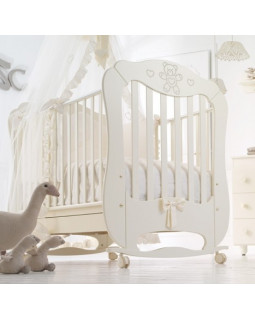 Baby Expert Margarita детская кроватка с качалкой