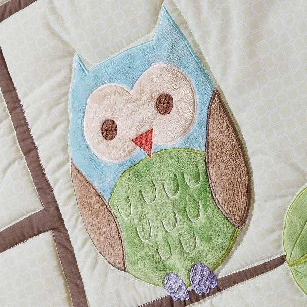 Комплект белья в кроватку Giovanni Shapito Summer Owls 60х120 (7 предметов)