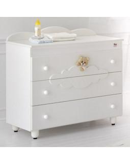 Бельевой комод Baby Expert Abbracci by Trudi (белый)