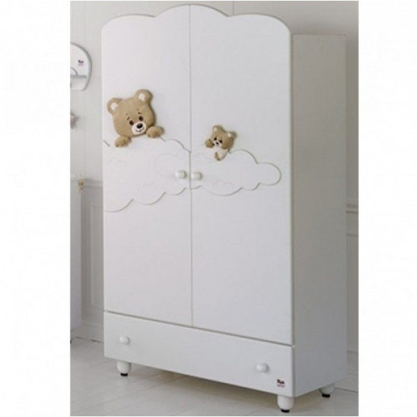 шкаф двустворчатый Baby Expert Abbracci by Trudi (белый)