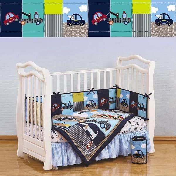 Комплект белья в кроватку Giovanni Shapito Transportation 60х120 (7 предметов)