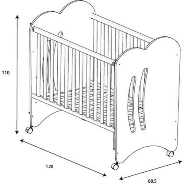 детская кроватка Micuna Aura