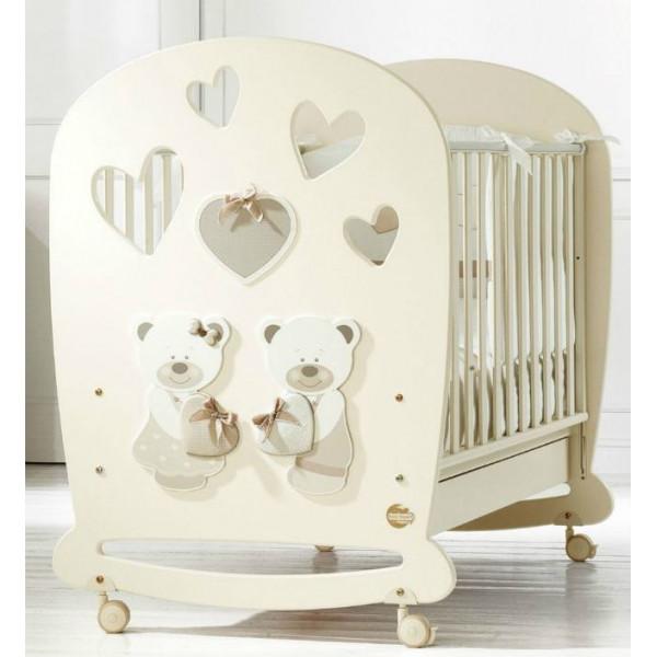 Baby Expert Bon Bon (крем) кроватка с качалкой