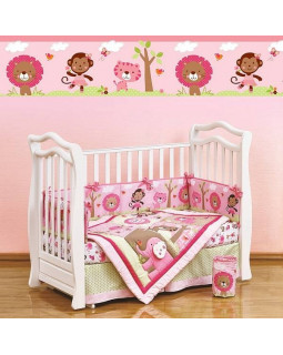 Giovanni Shapito Pink ZOO комплект белья в кроватку 60х120