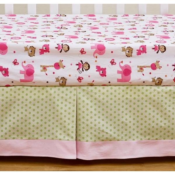 Комплект белья в кроватку Giovanni Shapito Pink ZOO 60х120 (7 предметов)