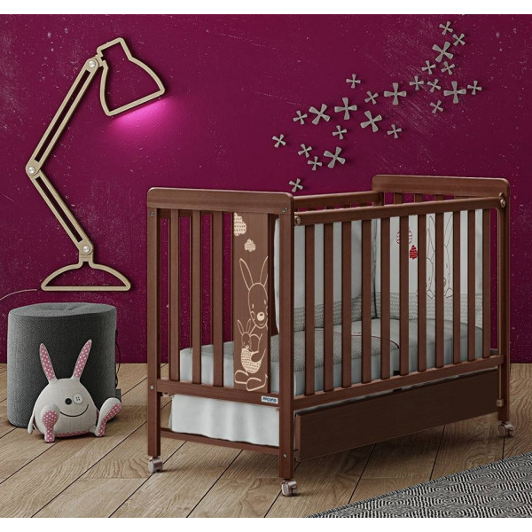 детская кроватка Micuna Kangaroo Chocolate + Матрас 120х60 см.
